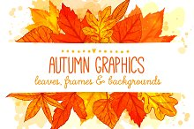 Autumn leaves frames and backgrounds
