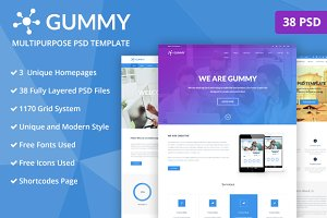 Gummy- Multipurpose PSD Template