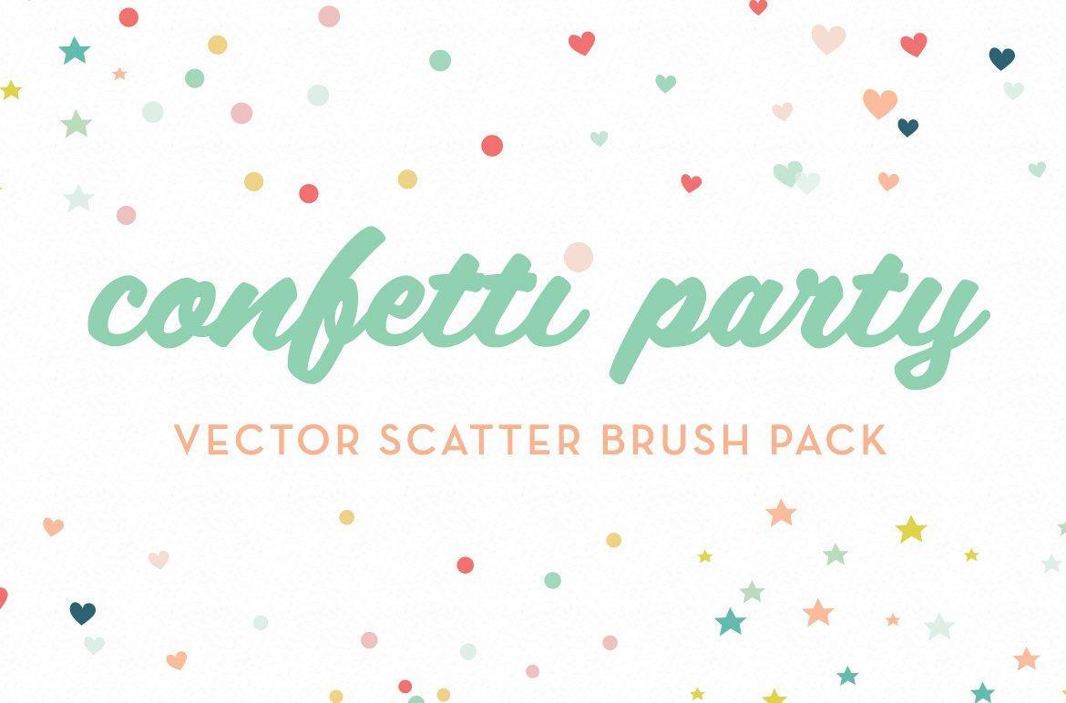 confetti party scatter brushes brushes creative market