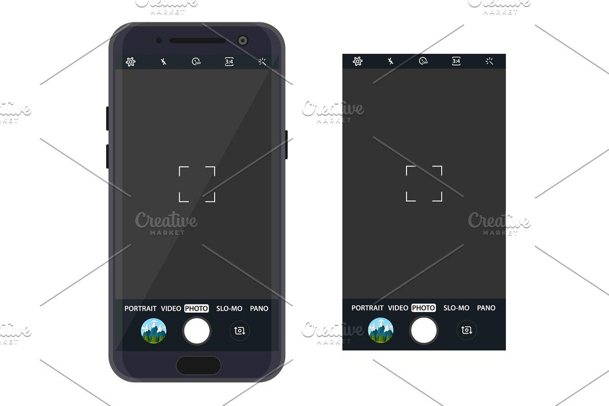Modern smartphone with camera