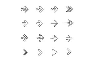 Arrow Icon Set. Vector