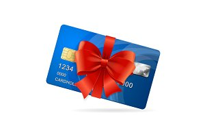 Credit Card Present. Vector