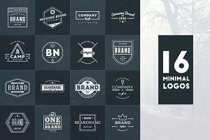 Set of 16 Minimal Logos