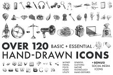 Hand-Drawn Icons (Essentials)
