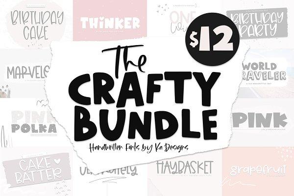 The Crafty Bundle - 14 Fonts