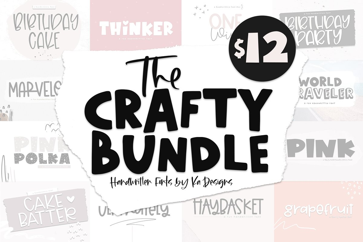 The Crafty Bundle - 14 Fonts