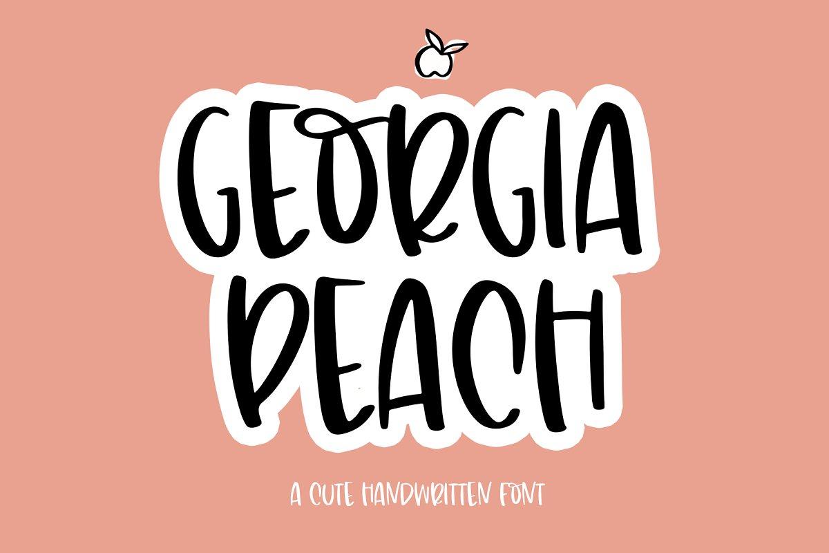 Georgia Peach - Handwritten Font