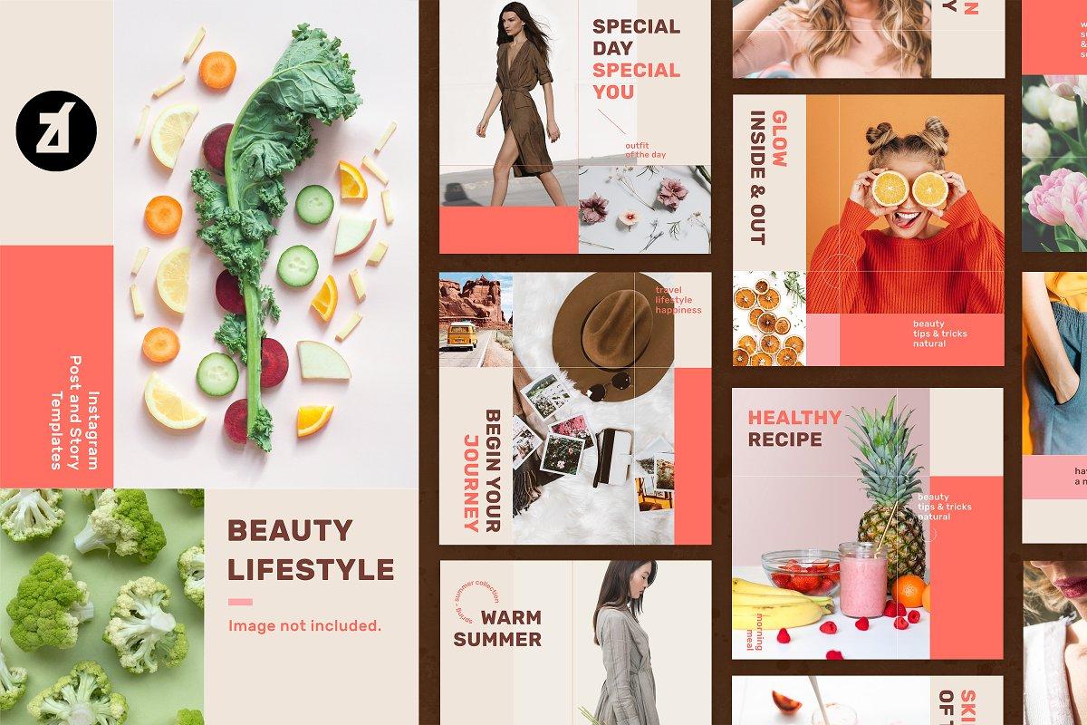Beauty Life social media templates