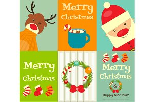 Set of Cute Christmas Posters