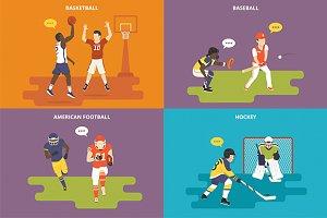 Flat sport icons set #1
