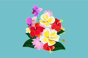 Vector flowers illustration