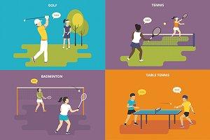 Flat sport icons set #2