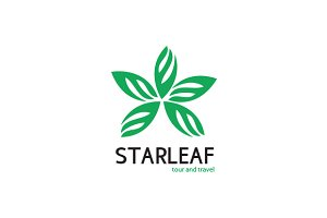 Star Leaf Logo Template