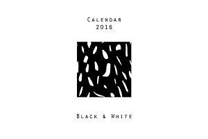 Calendar 2016. Black & White