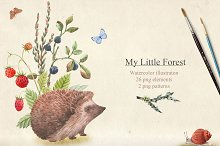 """""""My little Forest"""" PNG Set"""