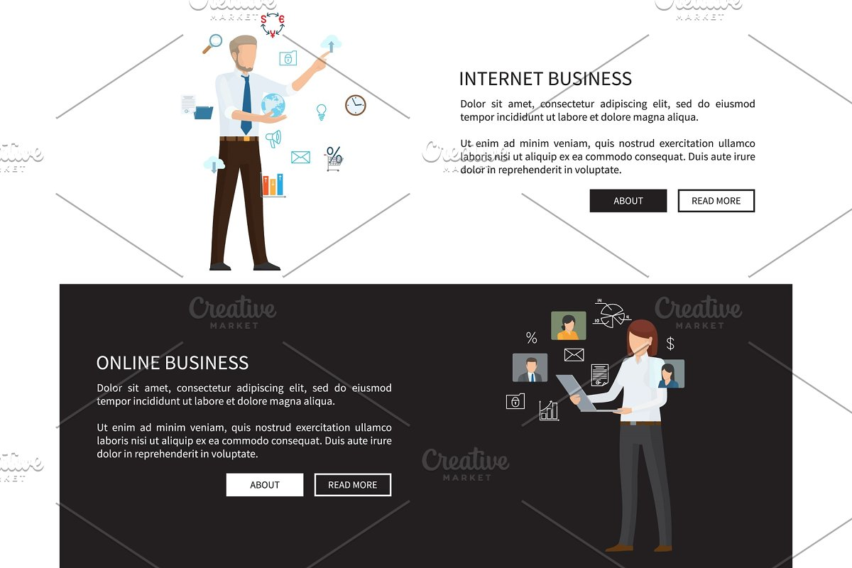 Internet Online Business Web Vector