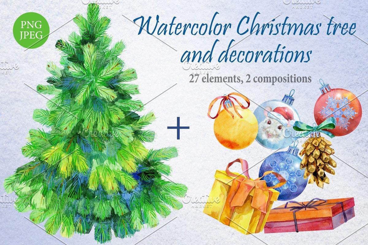 Christmas tree and decoration