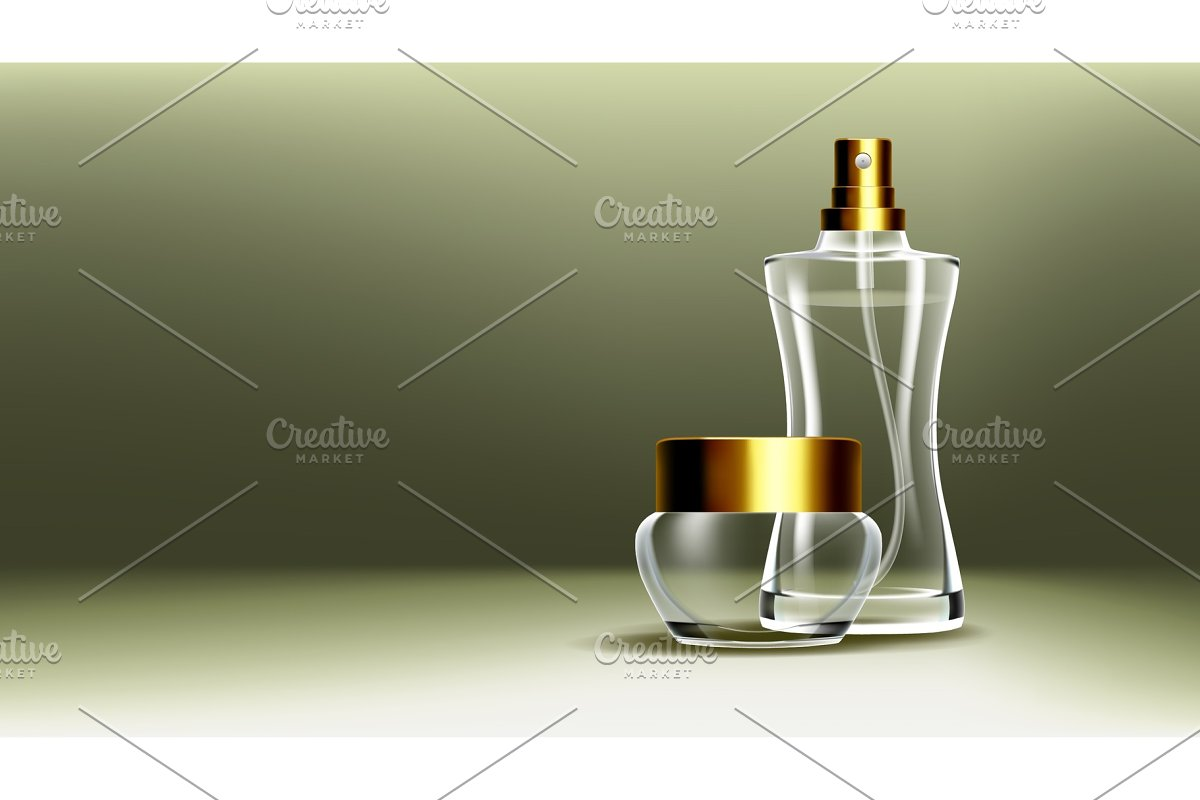 Cosmetic Glass Branding Background