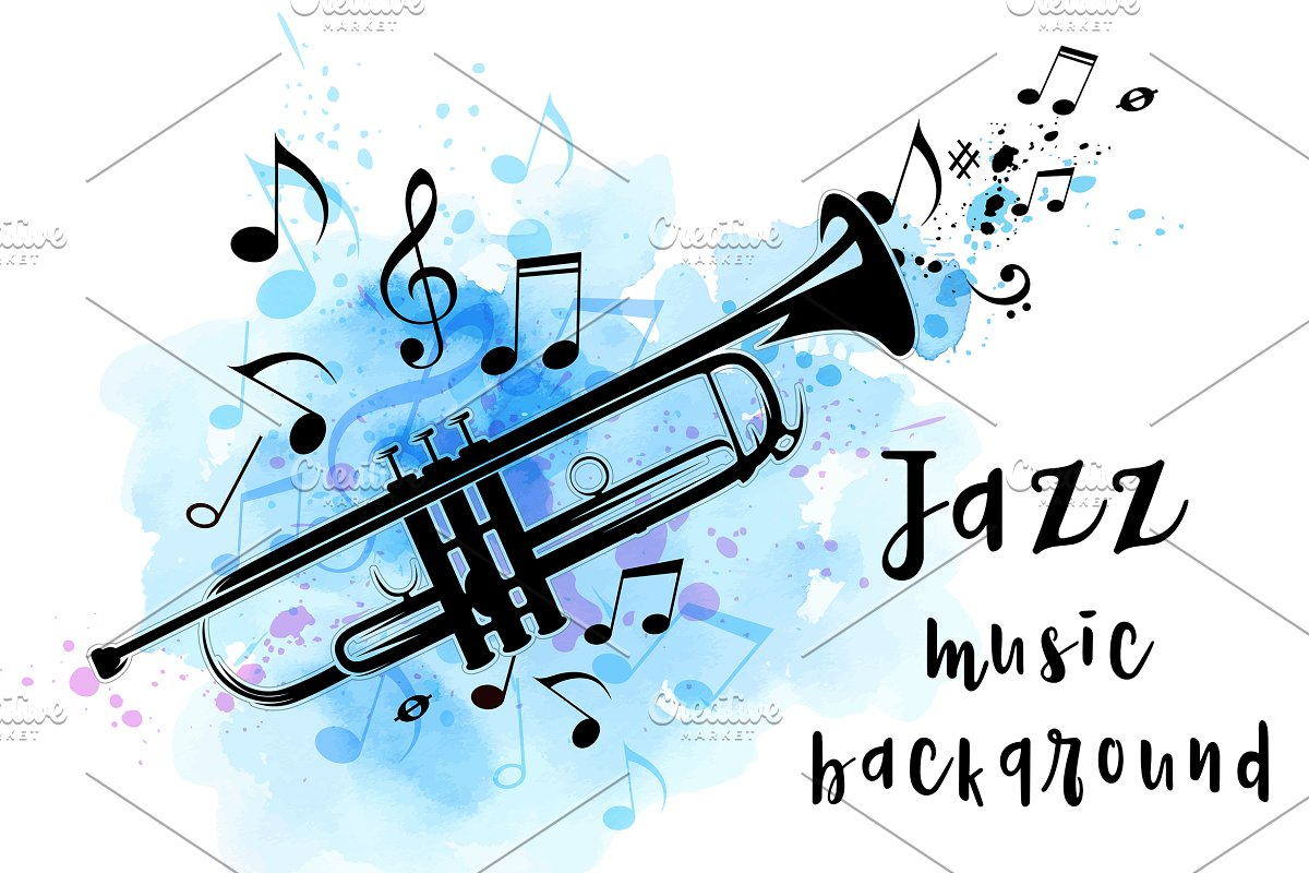 Jazz Music Background with Trumpet