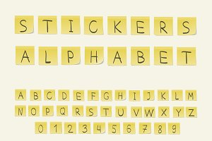 Stickers alphabet