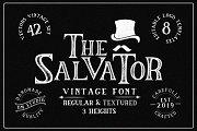 The Salvator - Vintage Font Package