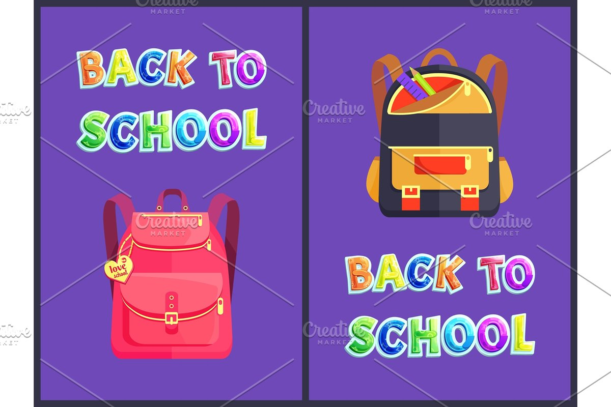 Back to School Backpack Poster