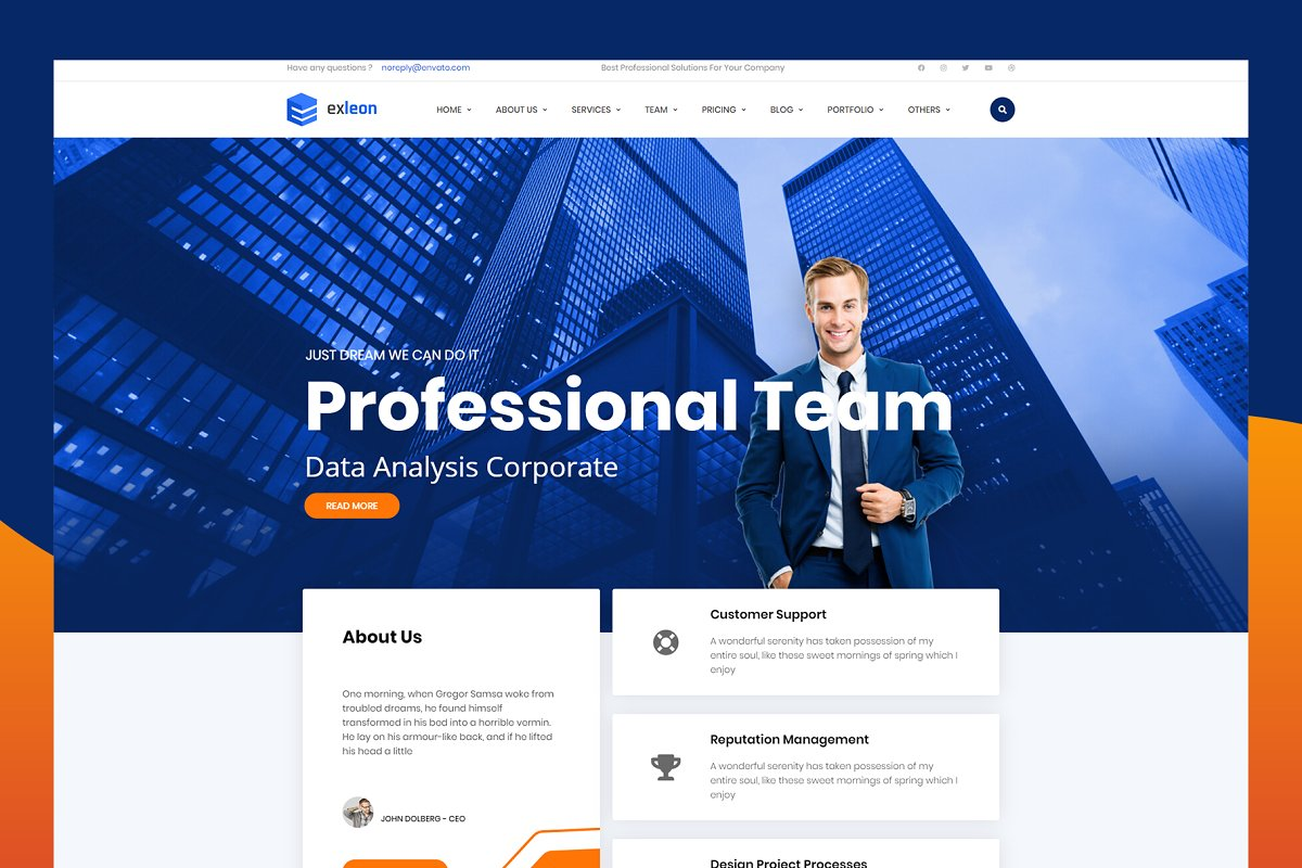 Exleon - Business WordPress Theme