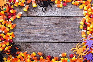 Halloween candy frame