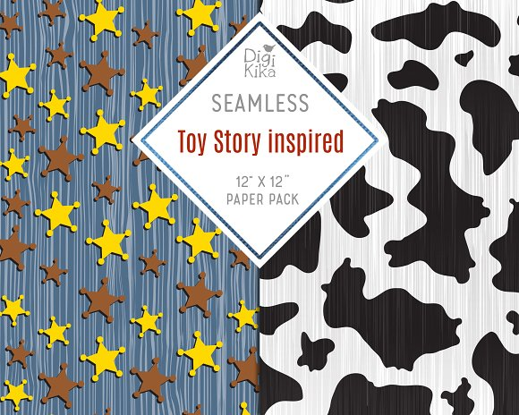 Toy Story Inspired Seamless Patterns