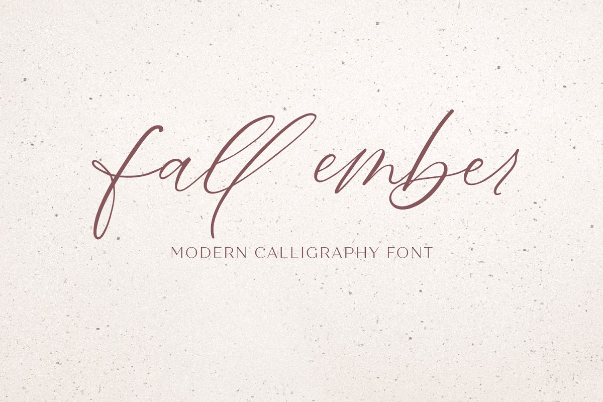 Fall Ember Calligraphy Font