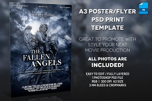 A3 - Movie Poster Print Template 2