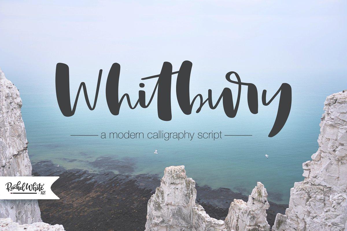 Whitbury, a modern calligraphy font