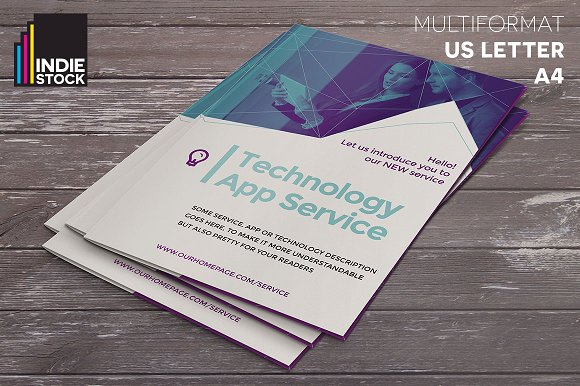 Technology Brochure Template Brochure Templates Creative Market - Technology brochure template