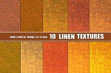 Orange Linen Canvas Texture