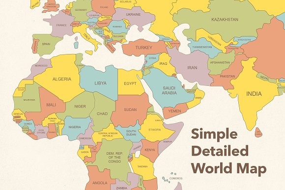 Map Of The World Simple.Simple Detailed World Map