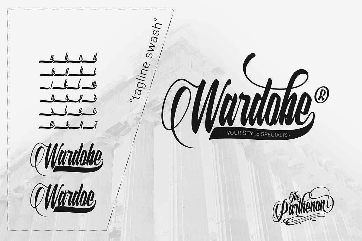 The Parthenon in Script Fonts - product preview 5