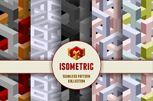 Isometric seamless patterns set