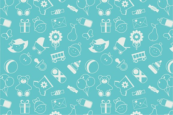 Seamless Baby Pattern Graphic Patterns Creative Market Delectable Baby Patterns