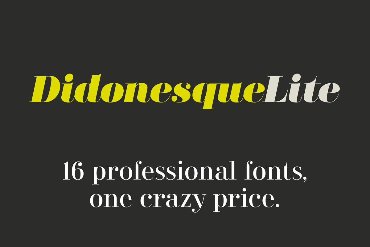 Didonesque Lite 16 Fashionable Fonts