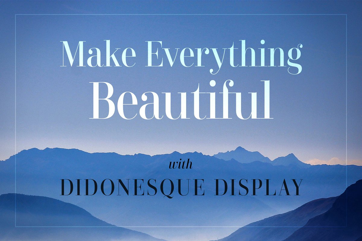 Didonesque Display Font Duo