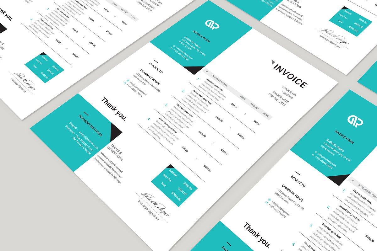 Creative Invoice Template 06