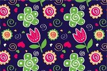 """Pattern """"Tulips&green flowers"""""""