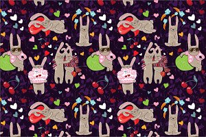 "Seamless pattern ""Rabbits"""