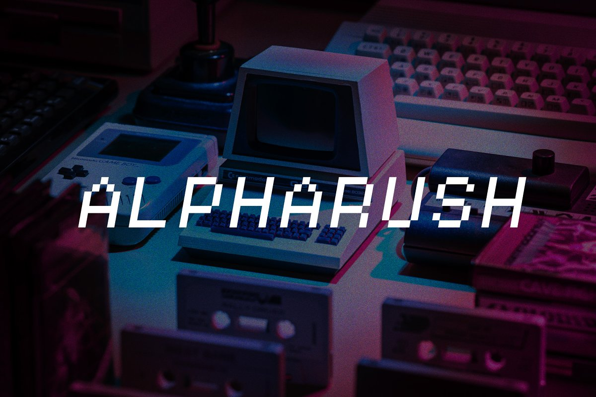 Alpharush - Retro Game Font in Display Fonts - product preview 8