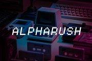 Alpharush - Retro Game Font