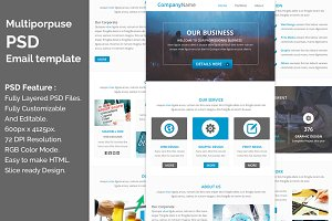 Multiporpuse PSD email template e5.