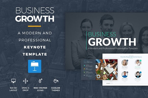 Business growth keynote template presentation templates business growth keynote template presentations toneelgroepblik Gallery