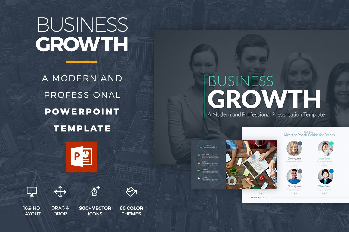Business growth powerpoint template presentation templates business growth powerpoint template presentation templates creative market toneelgroepblik Image collections