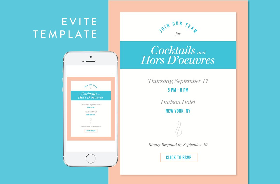 cocktail party evite psd template email templates creative market