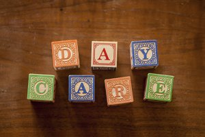 Day Care in Wooden Blocks